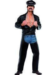 Village People Biker Fancy Dress Costume